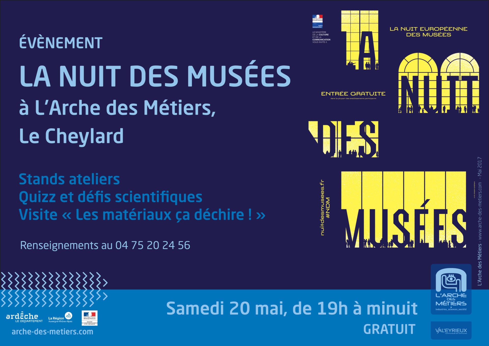 Les matériaux à l'honneur pour la Nuit des Musées